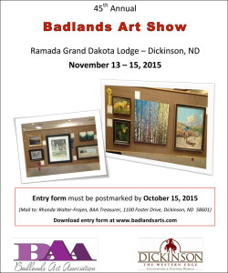badlands art show dickinson north dakota