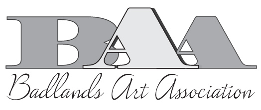 Badlands Art Association black & whte logo