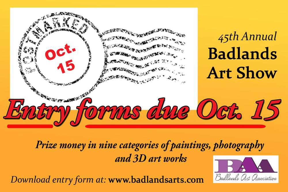 badlands art show dickinson north dakota
