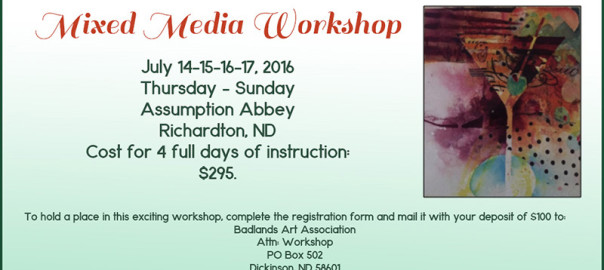 jennifer stone mixed media workshop north dakota