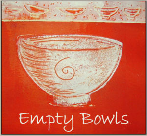 empty bowls charity fundraiser